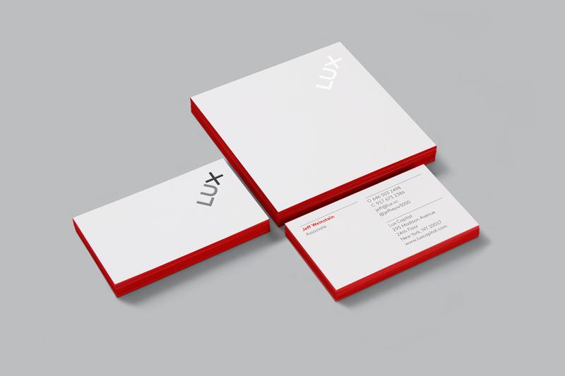 Визитки LUX и бумага для записей с логотипом