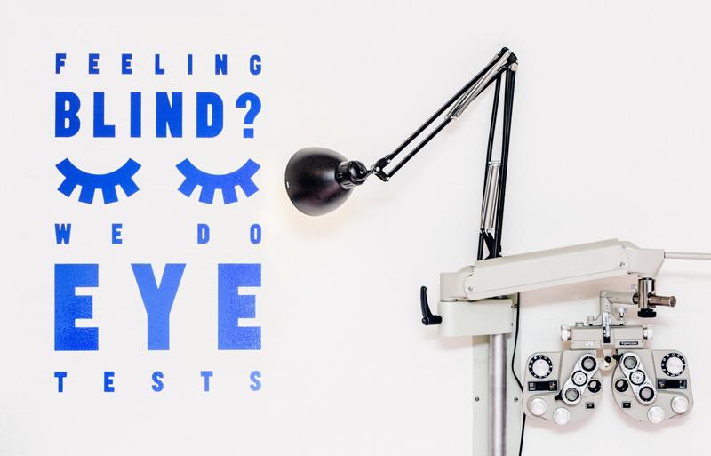 веселая таблица проверки зрения