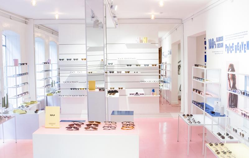 очки, магазин, шоурум, простор, прозрачность, легкость