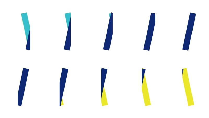 буква I, лента, полоски, конфетти