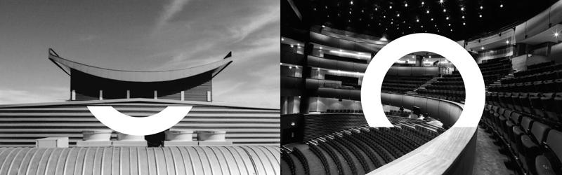 здание оперы, оперный зал, логотип, буква О