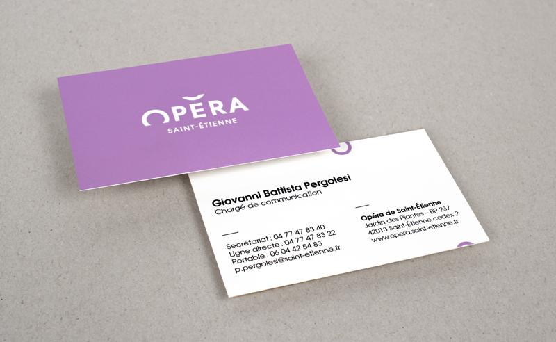 визитки, опера, логотип, сиреневый