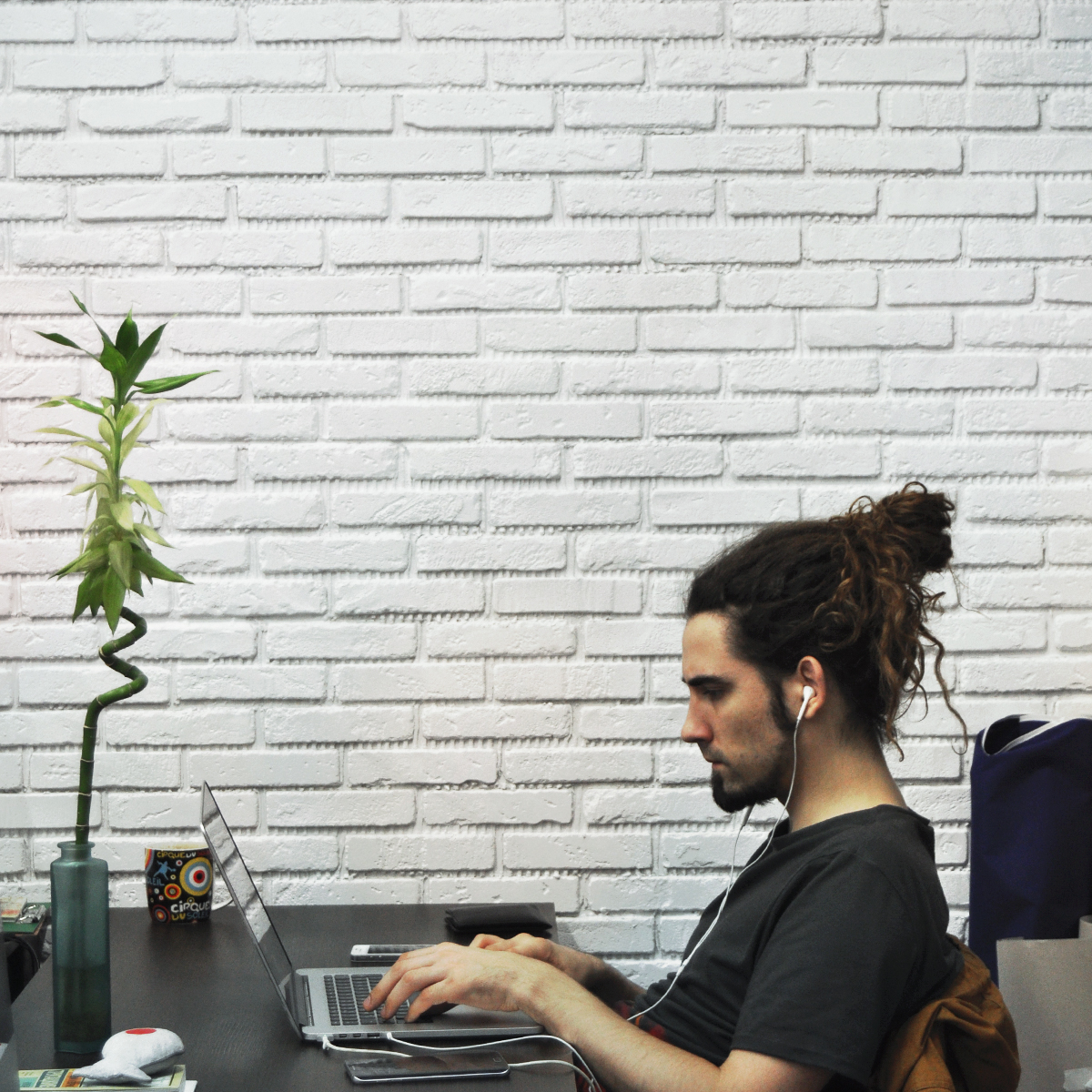 бамбук, дизайнер, workspace